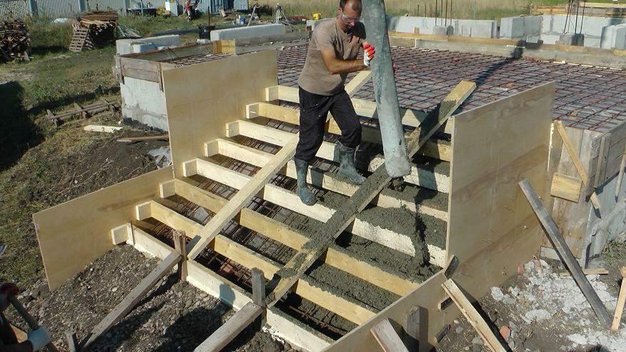 Как сделать опалубку бетонных лестниц 948